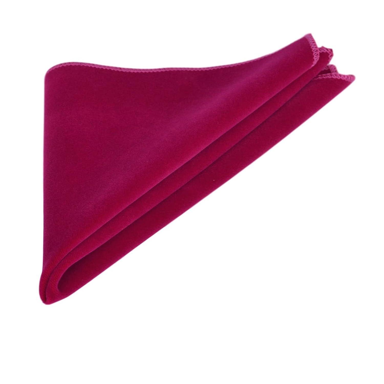 Luxury Magenta Pink Velvet Pocket Square