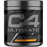 Cellucor C4 Ultimate Pre Workout Powder with Beta Alanine, Creatine Nitrate, Nitric Oxide, Citrulline Malate, and Energy Drink Mix, Orange Mango, 20 Servings