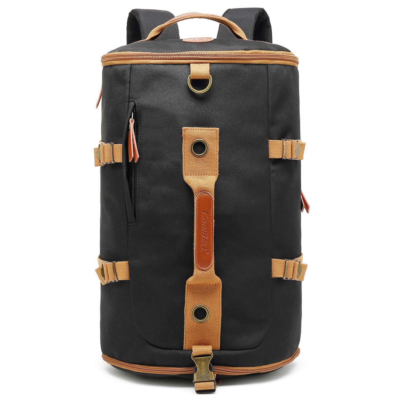 CoolBELL Sport Backpack Convertible Bag Shoulder Bag Briefcase 42L Travel Knapsack Light-Weight Water-Resistant Backpack Sport Duffel Fits 17.3 Inch Laptop for Men/Women (Black)
