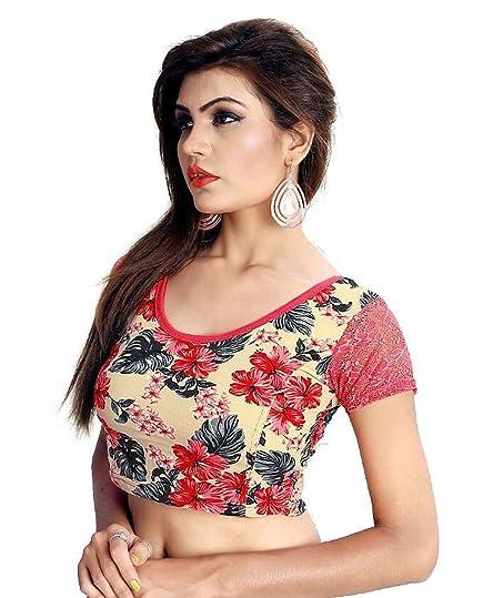 Dancing Girl Indian Readymade Blouse Blouses For Women Lycra Saree Fbkibls023mu