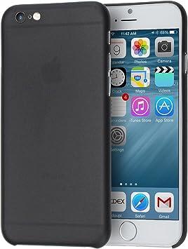 doupi UltraSlim Coque Compatible avec iPhone 6 6S (4,7 Pouces), Fin Mat Ultra Mince et Ultra léger Bumper Cover Housse de Protection, Noir