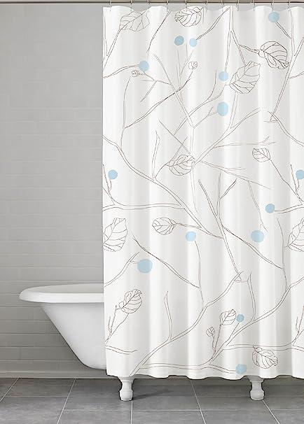 Amazon Com Kassatex Blue Grey Poppy Shower Curtain Gray Home