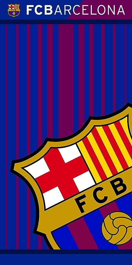 FCB FC Barcelona Toalla 100% Poliester, Azulgrana 70 x 140 cm