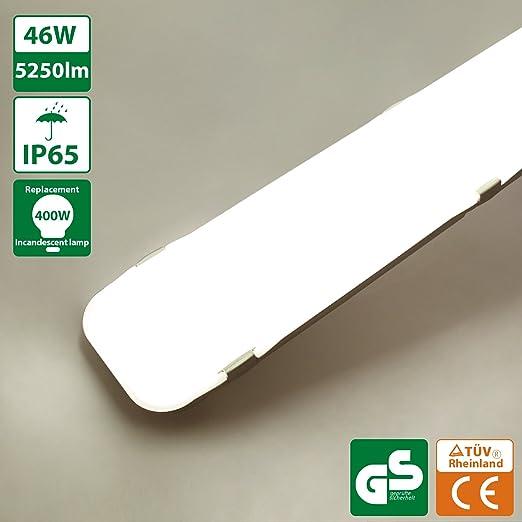 Tubes Lampe Tube LuminaireIp65 Blanc Etanche Salle 46w 120cmPlafonnier Bain5250lm 4000k Neutre Oeegoo Reglette Led De Fluorescents POZiuwXTkl