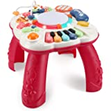 baccow Baby Toys 6 to 12-18 Months, Musical Activity Table for 1 Year Old Boys Girls Gifts Toddler Infant Toys (Size 11.8×11.