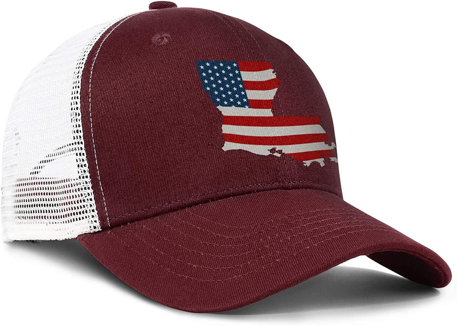 AkrCreative American Flag Louisiana State Men//Women Pattern Trucker Hats Baseball Hats