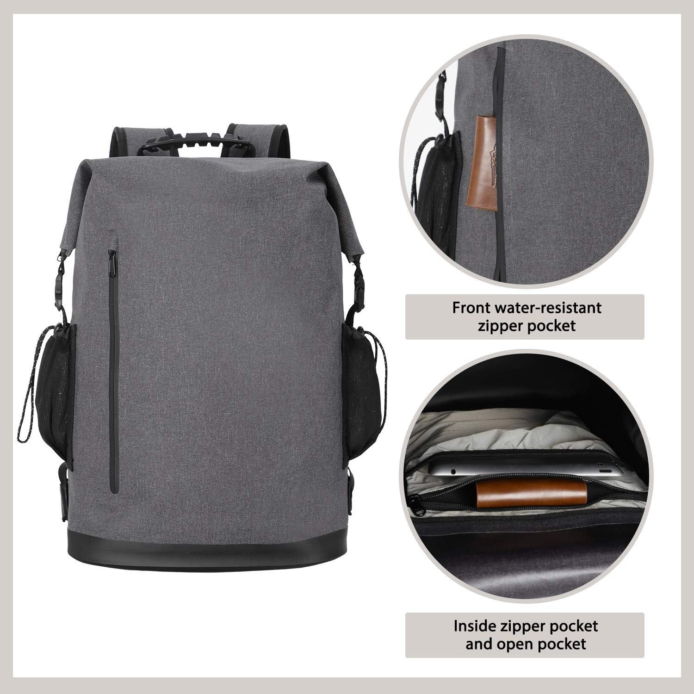 Grey MIER 30L Roll-Top Waterproof Backpack Heavy Duty Kayaking Floating Dry Bag