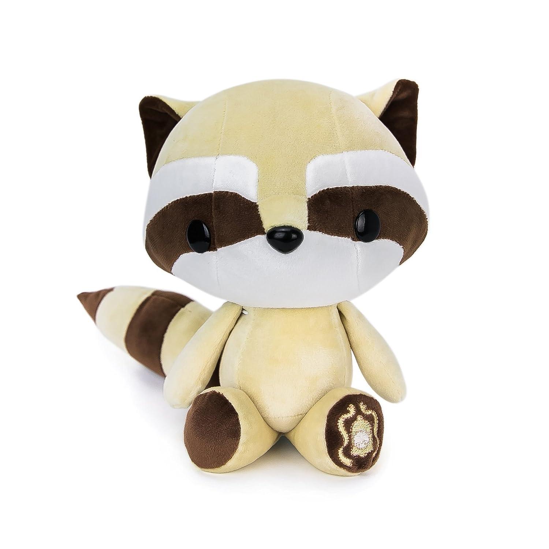 Bellzi Cute Brown Raccoon Stuffed Animal Plush Toy - Tanuki by Bellzi