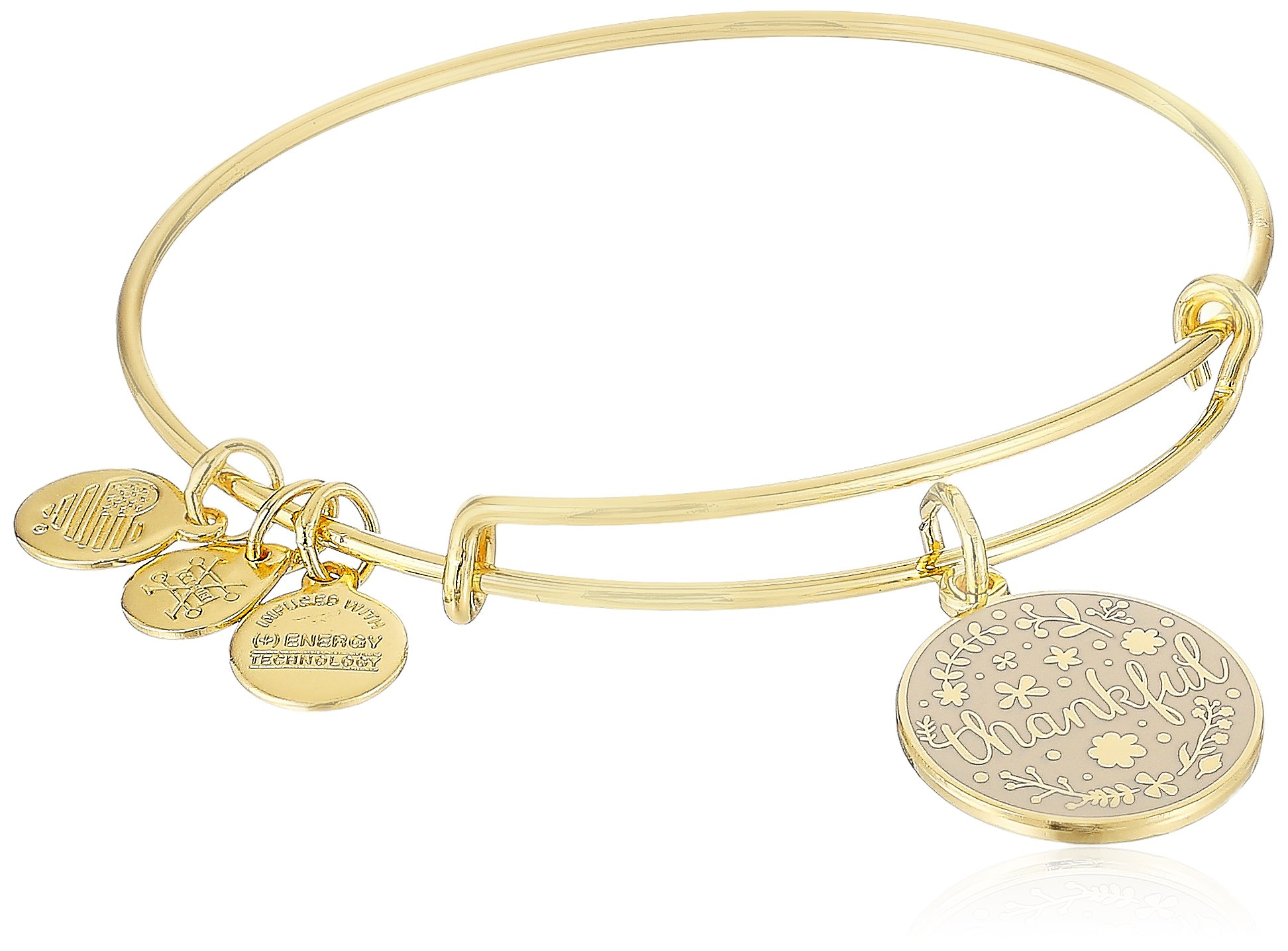 Alex and Ani Words are Powerful, Thankful Bangle Bracelet