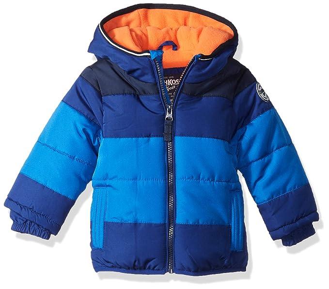 15ea9c95d Amazon.com  OshKosh B Gosh Baby Boys Heavyweight Colorblock Puffer ...