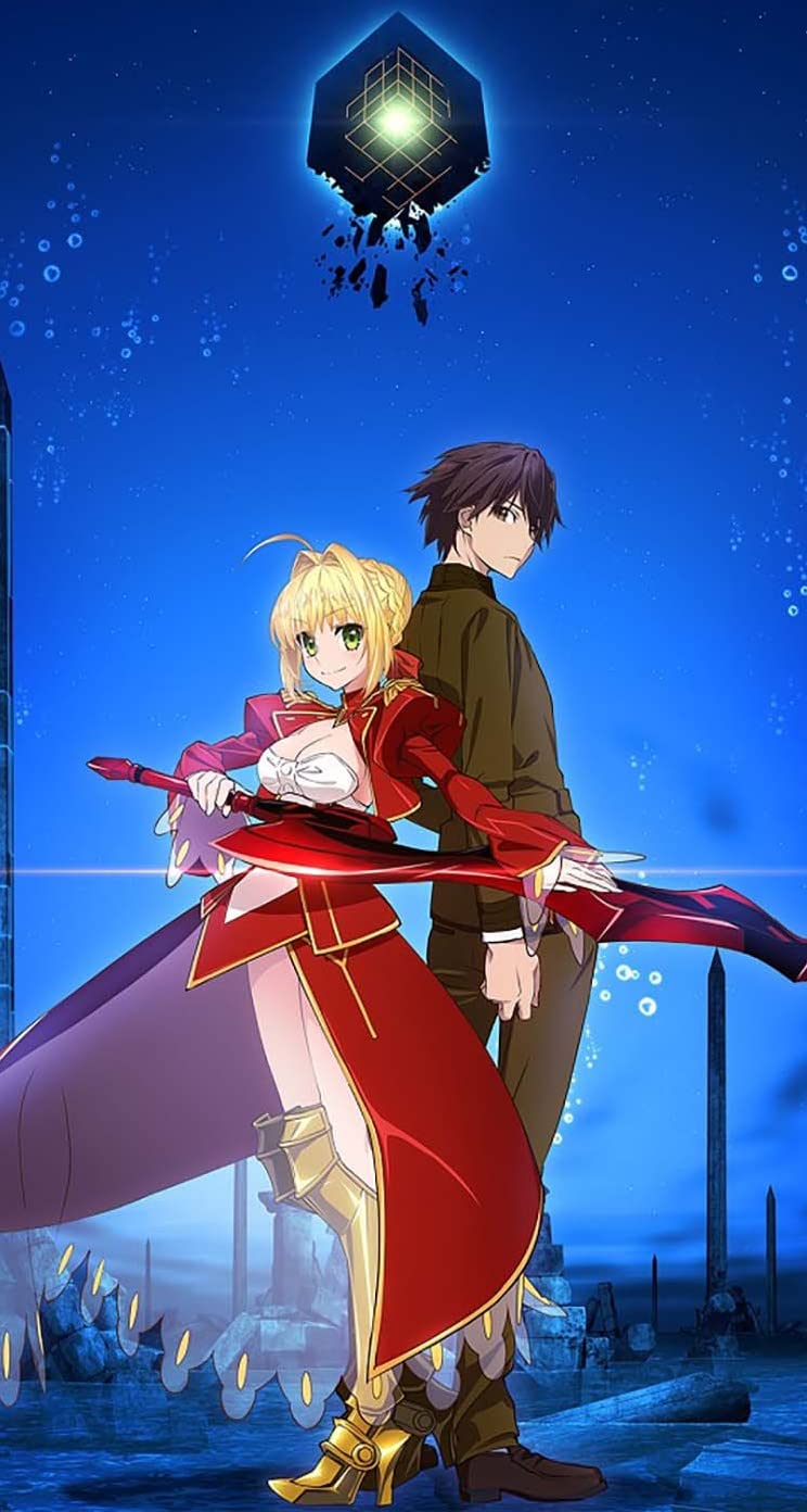 Fate Iphonese 5s 5c 5 壁紙 視差効果 セイバー 岸浪ハクノ Fate Extra Last Encore アニメ スマホ用画像904