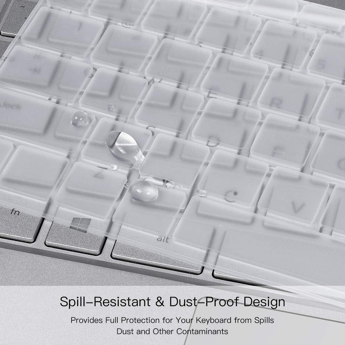 Clear HP EliteBook 755 G5 Keyboard Cover Silicone Keyboard Cover for HP EliteBook 850 G5//HP Zbook 15 G5//HP EliteBook 755 G5//HP ZBook 15u G5//HP Zbook 15v G5 15.6 Keyboard Skin