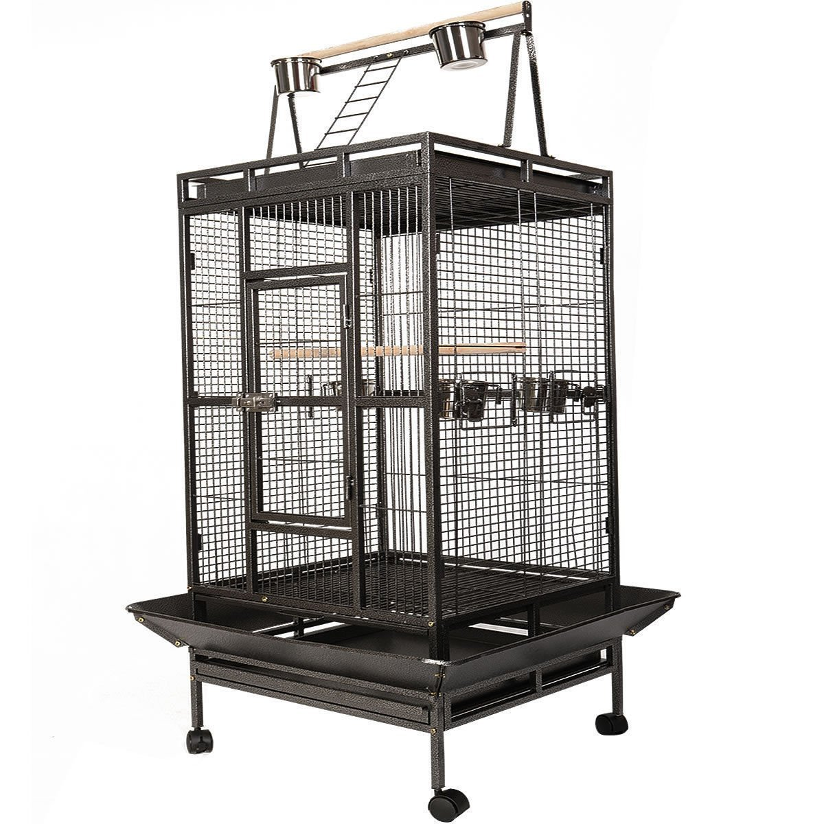 MASCARELLO® LARGE BIRD PARred MACAW AVIARY CAGE COOP WIRE MESH BREEDING AFRICAN Stand&Whee