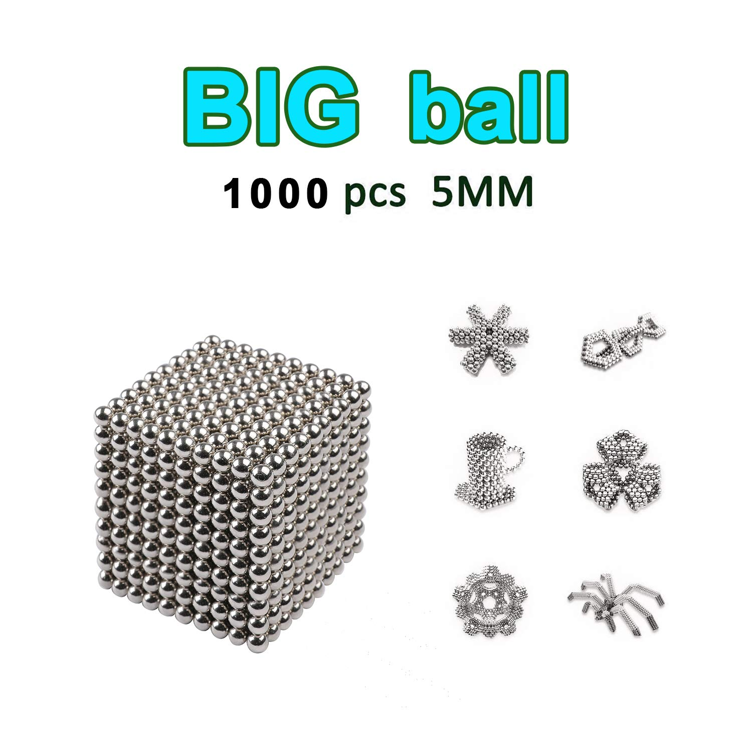 DOTSOG 1000 Pieces 5mm Sculpture Building Blocks Toys for Intelligence DIY Educational Toys& Stress Relief for Adults by DOTSOG