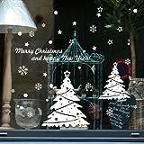 Wall Stickers, SHOBDW Merry Christmas Snowman Santa Snow Deer Removable Home Vinyl Window Decal Decor (B)