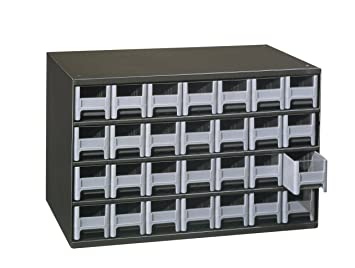 Superb Akro Mils 19228 28 Drawer Steel Parts Storage Hardware And Craft Cabinet,  Grey Drawers