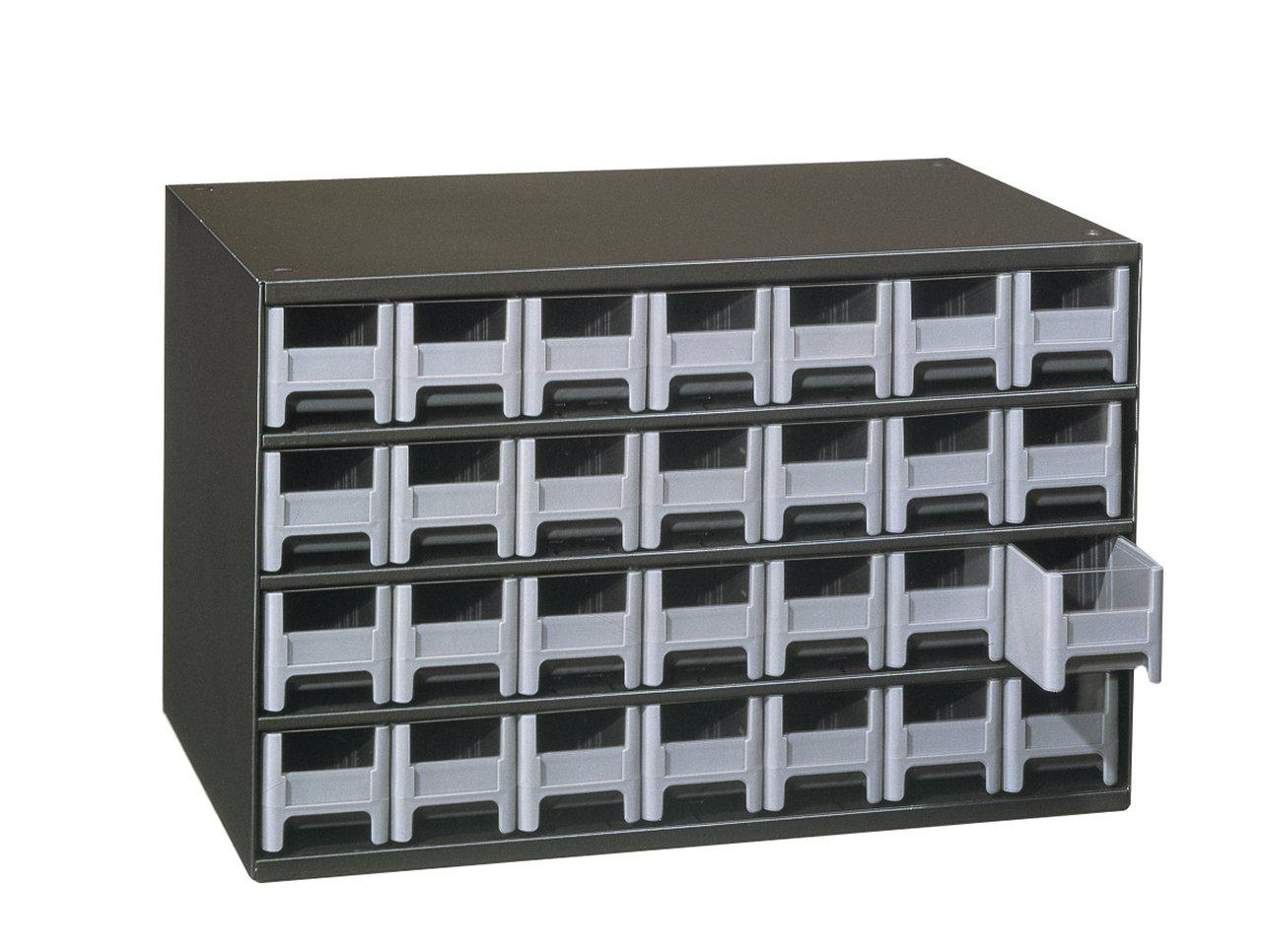 Akro-Mils 19228 28 Drawer Steel Parts Storage Hardware and Craft Cabinet, Grey Drawers