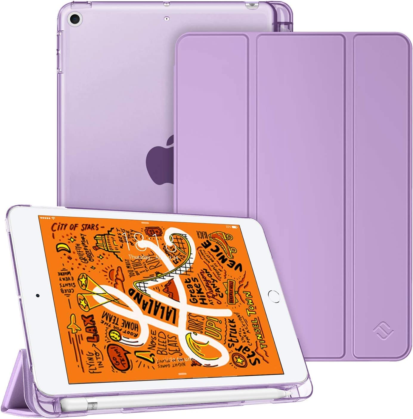 Fintie Case for iPad Mini 5 2019 - Lightweight Slim Shell Cover with Translucent Frosted Back Protector Supports Auto Wake/Sleep for iPad Mini 5th Generation 7.9 Inch, Lavender Purple