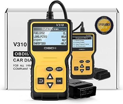Esc/áner de Fallas Automotrices Coche Diagn/óstico Herramienta OBD Bluetooth para Autom/óviles y Camiones