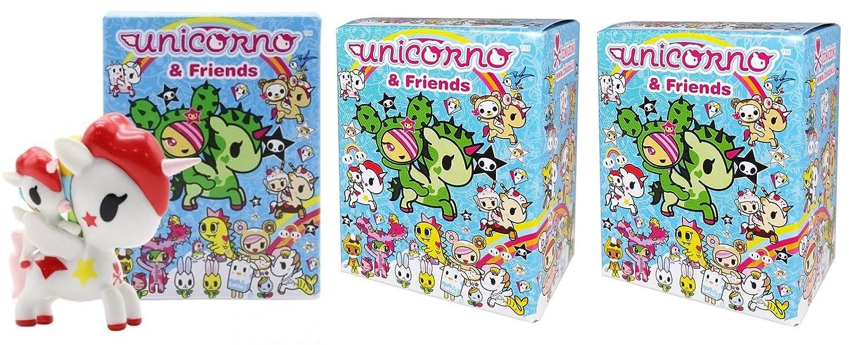 3-inch Pack of 3 Tokidoki Unicorno /& Friends Collectible Vinyl Figures