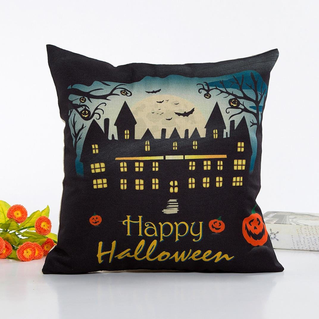 Pillow Case Neartime Halloween Sofa Bed Home Decor Pillow Case Cushion Cover (Free, A) by NEARTIME (Image #2)