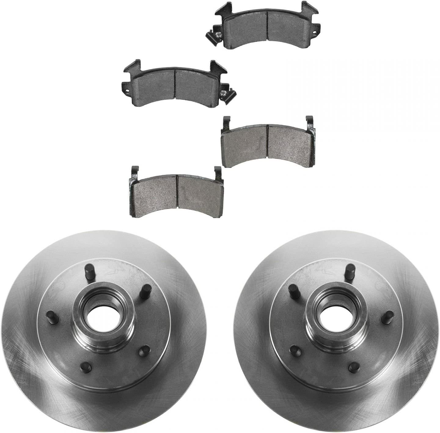 1998 1999 Chevy Blazer 2WD//4WD Rotors Ceramic Pads F OE Replacement