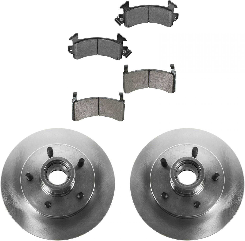 Front /& Rear Disc Brake Rotor Kit 4 Piece Set for Chevrolet GMC Truck Pickup New