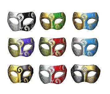 TANKASE 9pcs fijó las máscaras venecianas de las mascaradas de las mascaradas del carnaval Party el
