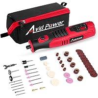 Avid Power Cordless Rotary Tool 8V Li-ion with 2.0 Ah Battery, 5-Speed, 4 Front...