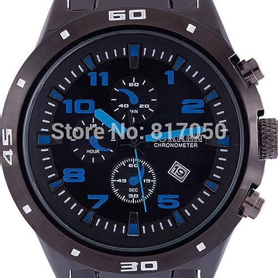 Belleza regalo 2015 nueva moda Curren famoso diseño UV400 deporte reloj de acero de alta calidad