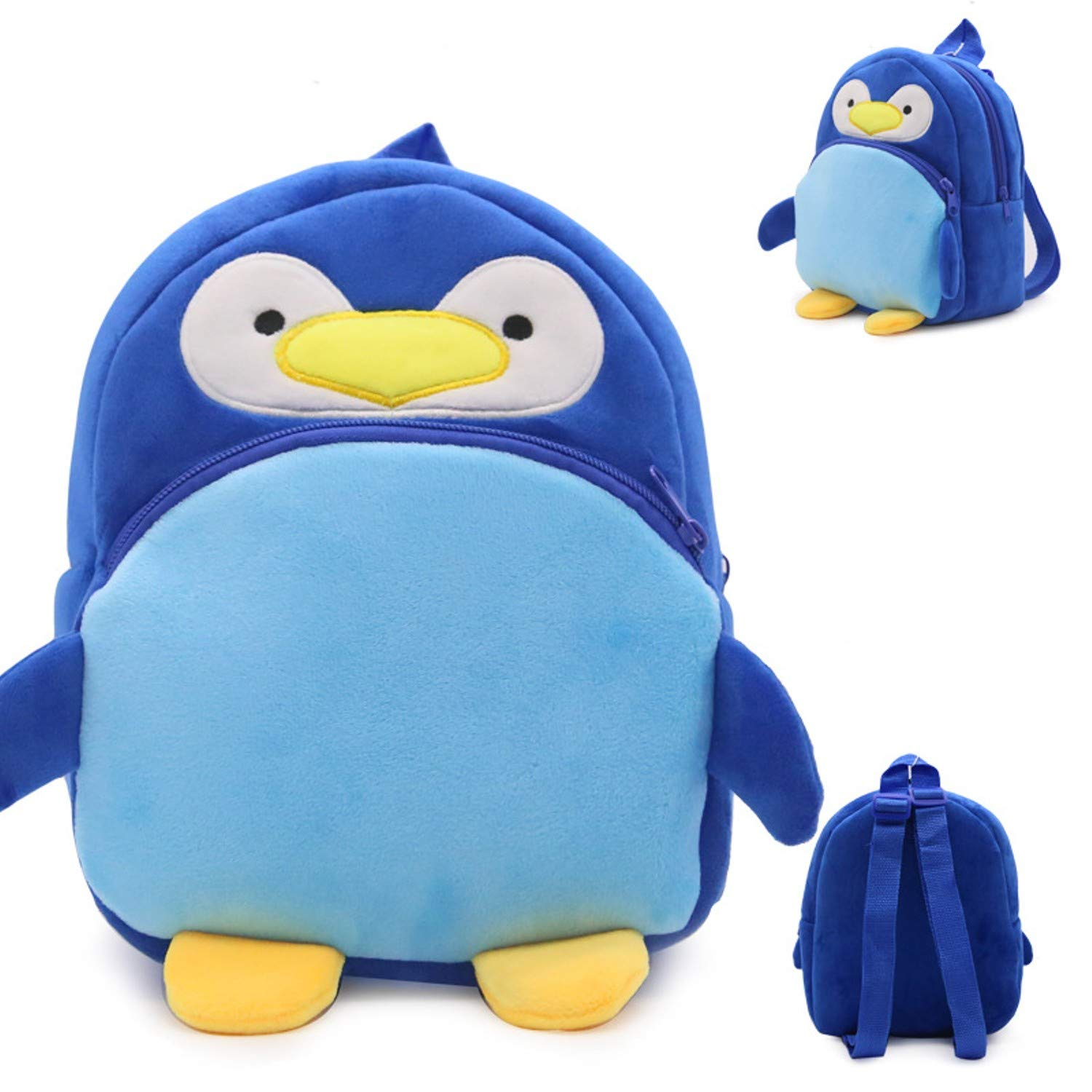 Amazon.com: Jewh Cute Cartoon Baby Toy School Bag Animal Shape Mini Plush Backpack Kids Outdoor Travel Pack Bag Student Kindergarten Bags (Penguin): Toys & ...
