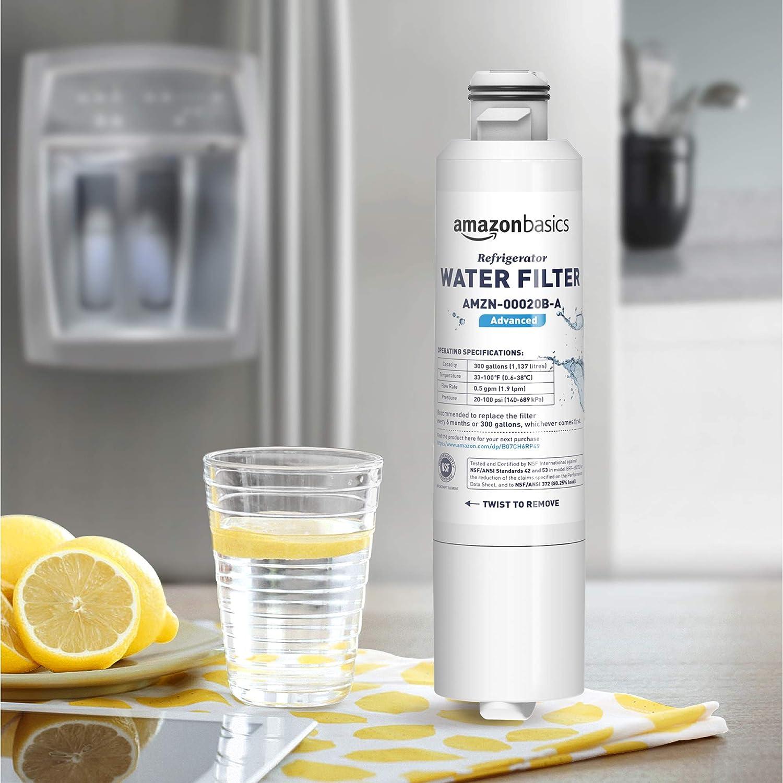 Premium Filtration Basics Replacement Samsung DA29-00020B Refrigerator Water Filter 3-Pack AMZN-00020B-P3