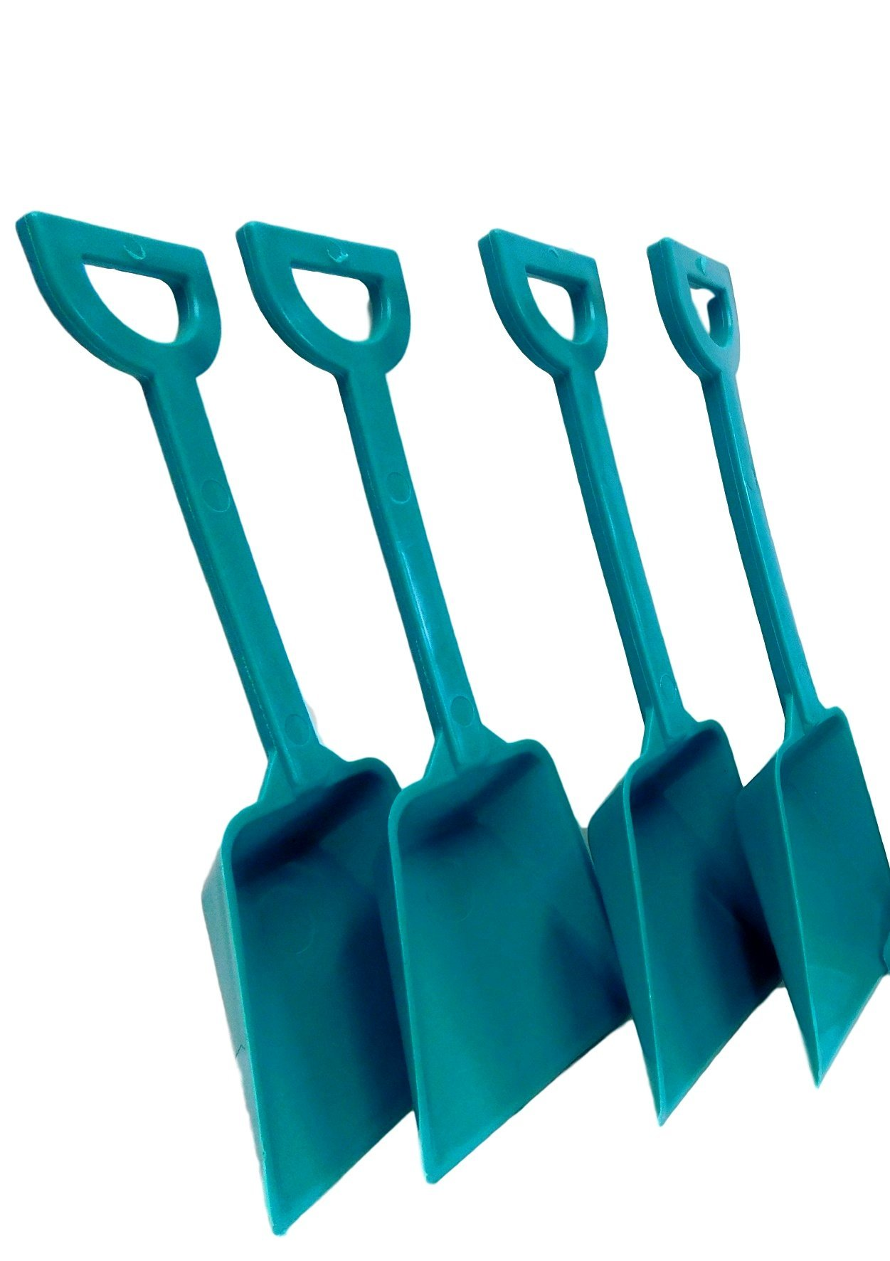 Small Toy Plastic Shovels Wholesale Lot, Pack 500, 7 Inches Tall, Color Teal