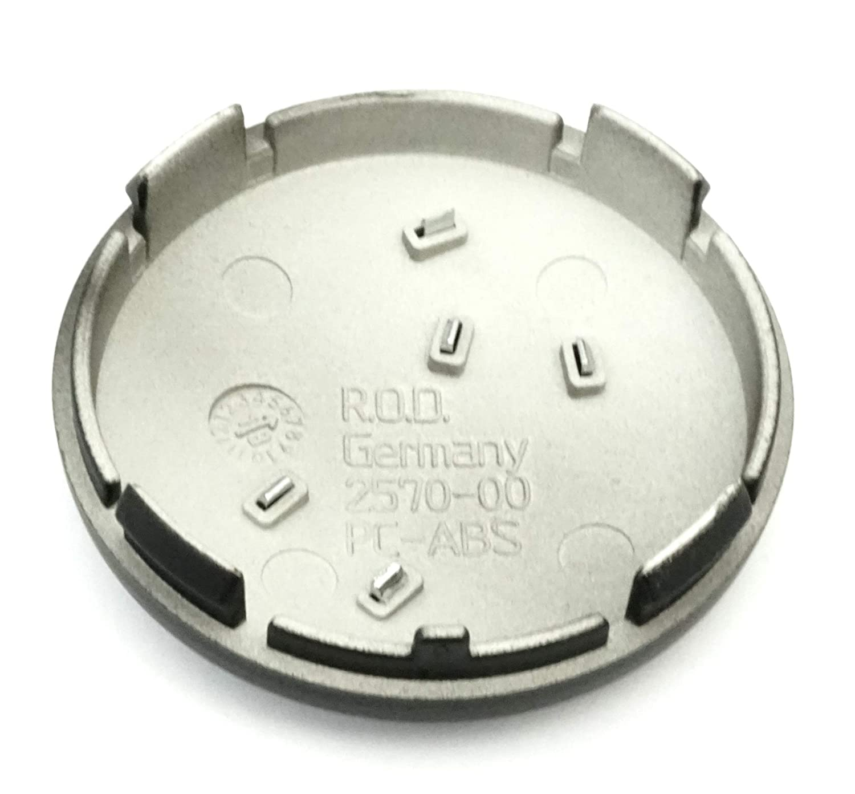 4xOriginal Rondell Nabendeckel Felgendeckel Nabenkappe Schwarz Matt 60mm 2570-00