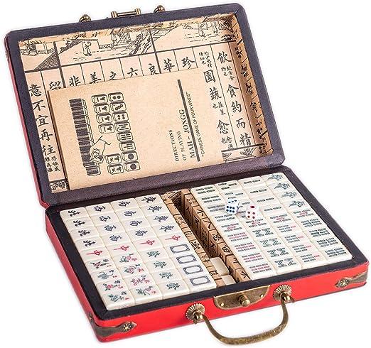 Lim Chinese Riichi Mahjong Set 144 Tiles Mahjongg Mah Jongg Mah Jong Set Majiang Maat M Amazon Nl