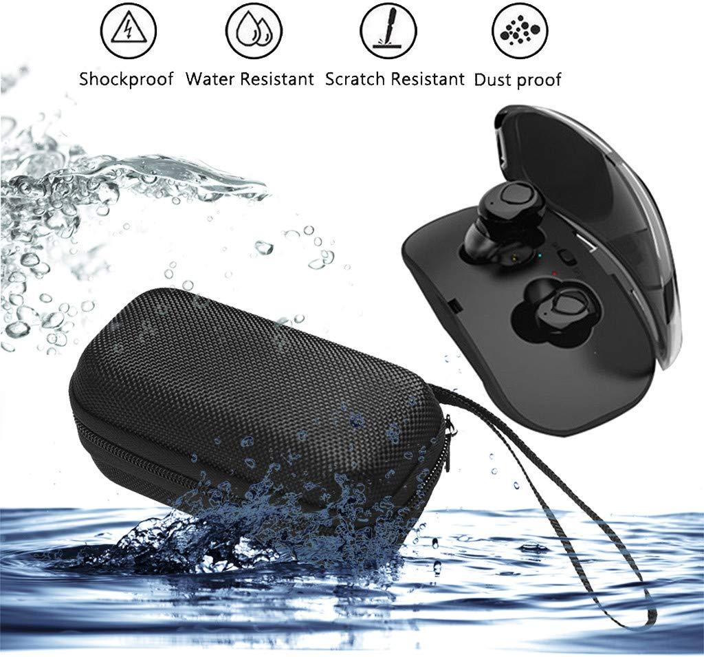 Portable Carrying Case for True Wireless In Ear Stereo Sport Bluetooth Earbuds, Travel Zipper Bag for Wireless In Ear Headset Headphone