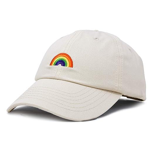 DALIX Rainbow Baseball Cap Womens Hats Cute Hat Soft Cotton Caps in Beige a696093287d