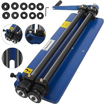 7/'/' Sheet Metal Bead Roller Steel Bender 6 Die Sets Iron Adjustable Forming