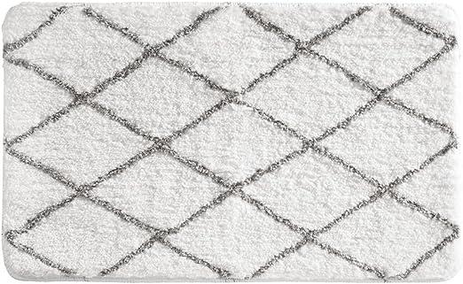 Amazon.com: iDesign Microfiber Polyester Diamond Sherpa Bath Mat