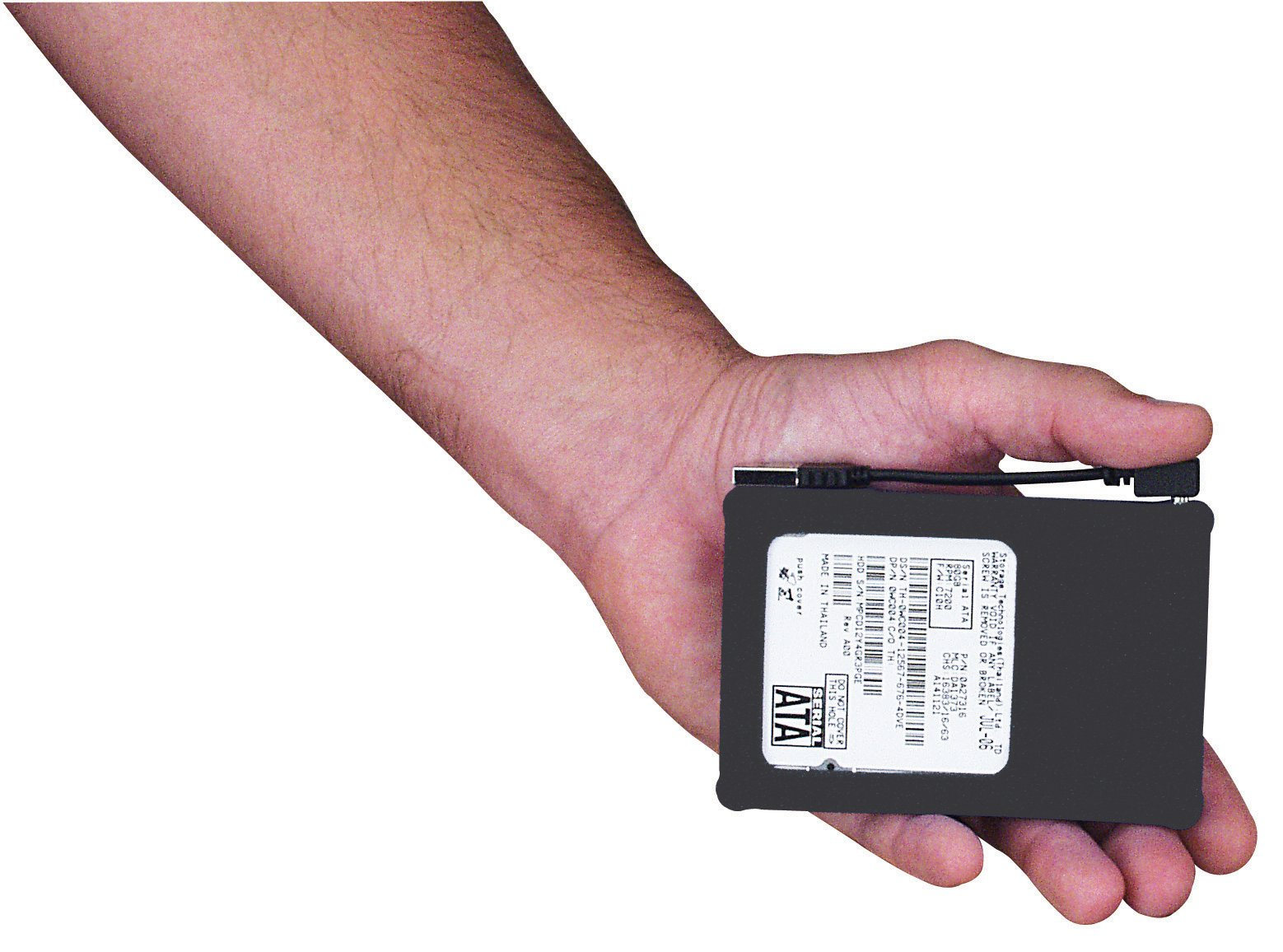 MANHATTAN Hi-Speed USB 2.0 2.5-Inch SATA Drive Enclosure Black, Silicone (130103)