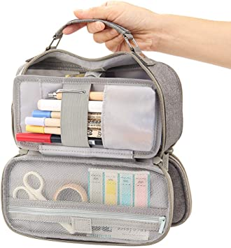 Foldable Pencil Holder Office College School Large Storage High Capacity Bag Pouch Holder Box Organizer with Zipper Middle School /& Office Supplies Stationery Big Capacity Pencil Pen Case
