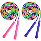 MoKo Jump Rope for Kids, Soft Beaded Skipping Rope (2 Pack), Premium Adjustable Free Segmented Tangle-Free Workout…