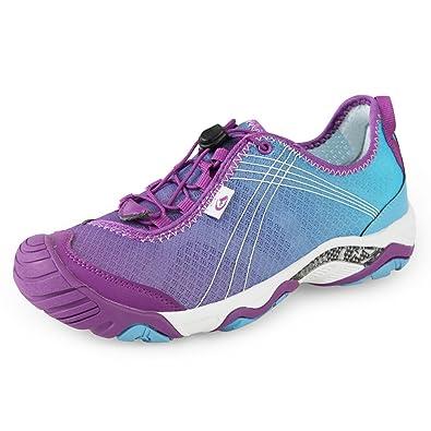 b9ae34d9ea9c61 Clorts Women's Water Shoes Lightweight Quick Drying Hiking Sandal Kayaking  Beach Trekking Walking Purple 3H020C US5