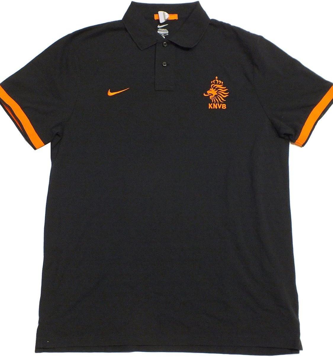 Holanda Nike Polo de hombre talla S negro 450392 011: Amazon.es ...
