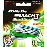 Gillette MACH3 Sensitive Power Rasierklingen, 8 Stück