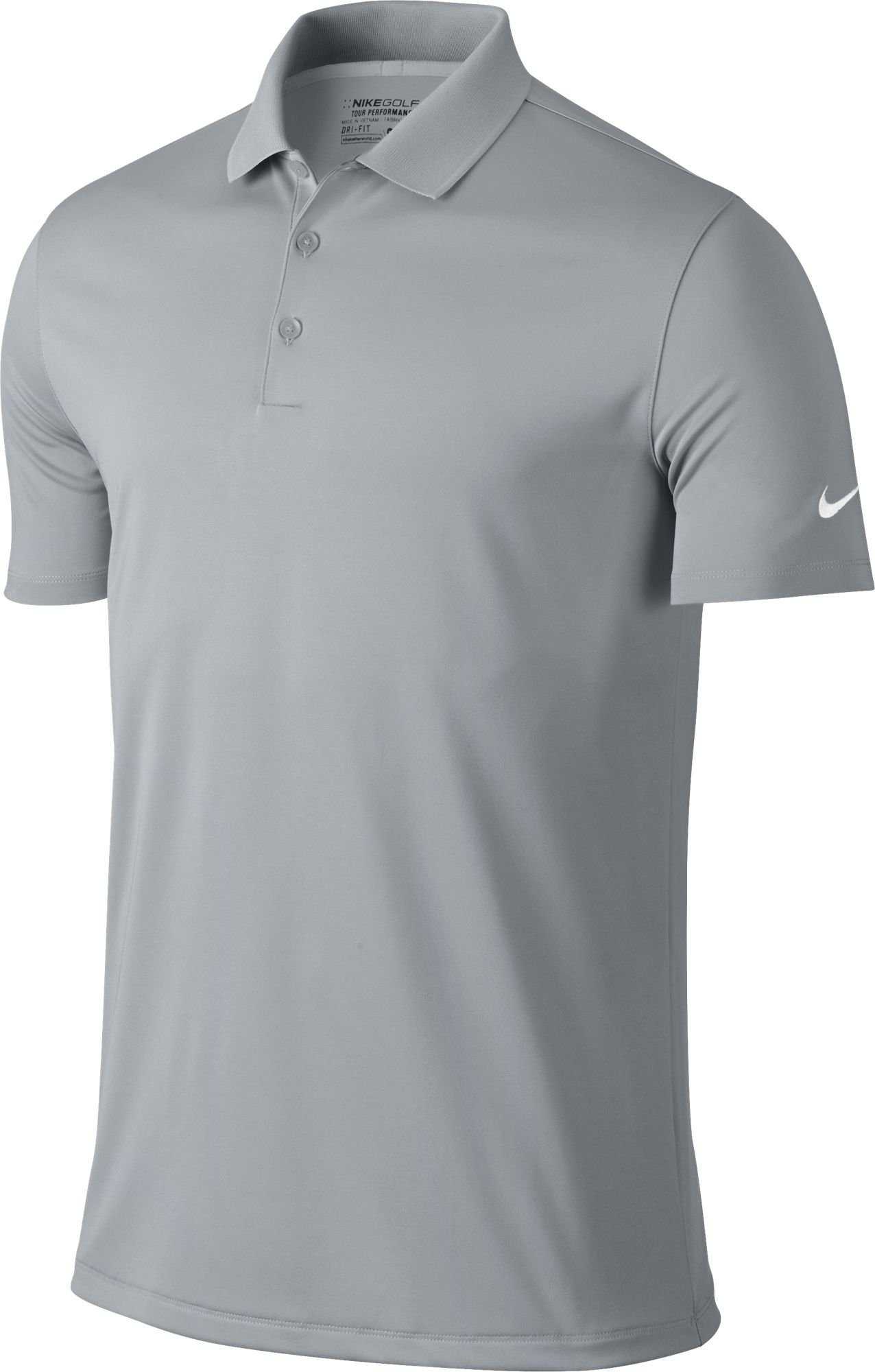 Nike Golf Victory Solid Polo (Wolf Grey/White) (Small)