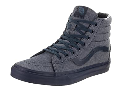 aae68cefe5 Image Unavailable. Image not available for. Color  Vans Unisex Sk8-Hi  Reissue (Mono Chambray) ...