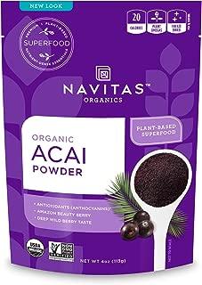 product image for Navitas Organics Acai Powder, 4 oz. Pouch — Organic, Non-GMO, Freeze-Dried, Gluten-Free