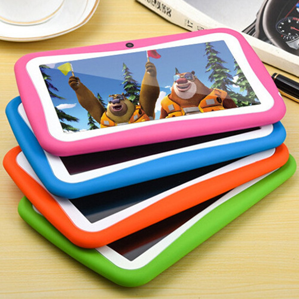 7'' Kids Tablet PC, Android 4.4 4GB ROM 512MB RAM Tablet Dual Camera WiFi USB Phablet Silicone Case by XINSC (Image #6)