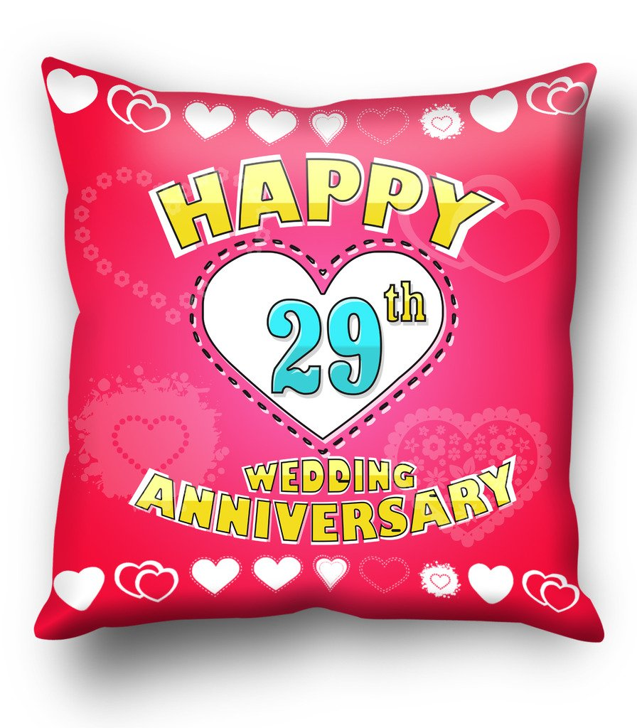 Buy Happy 29th Wedding anniversary cushion cover Online at Low ...